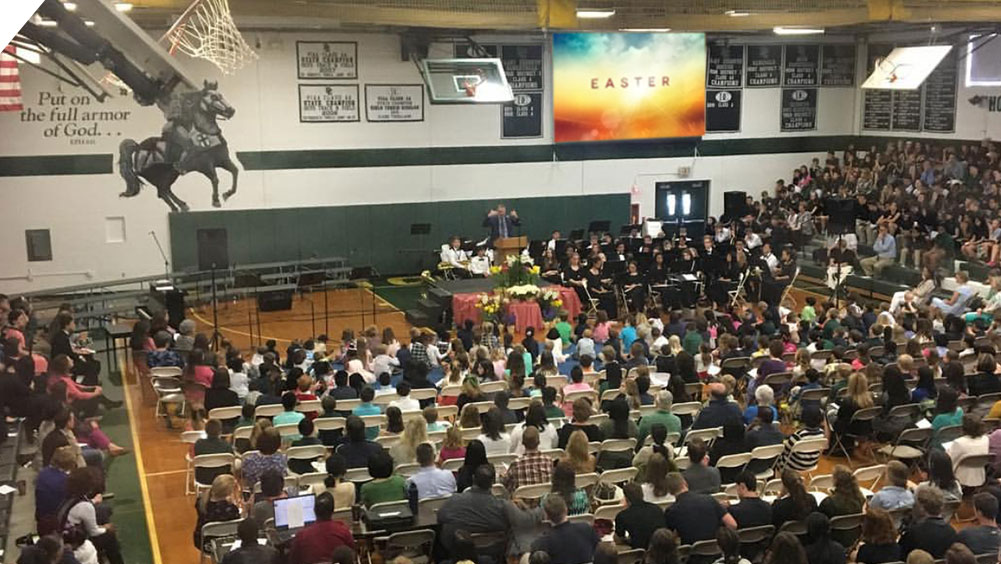 Easter Mass Church Service at Delaware County Christian School