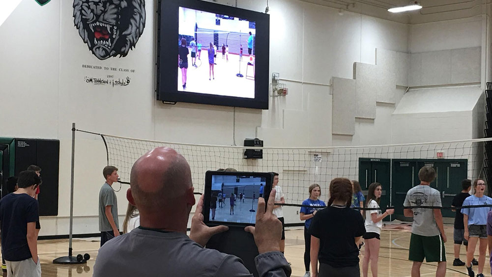 Gym Class Video Feed at Millard West High School