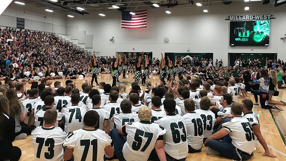 Pep Rally at Millard West High School