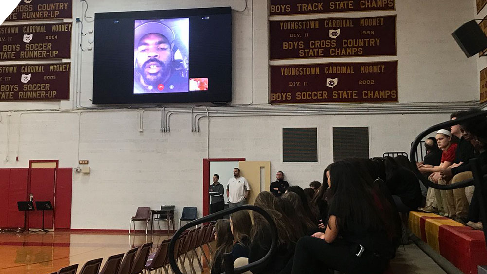 Guest Speaker at Cardinal Mooney High School