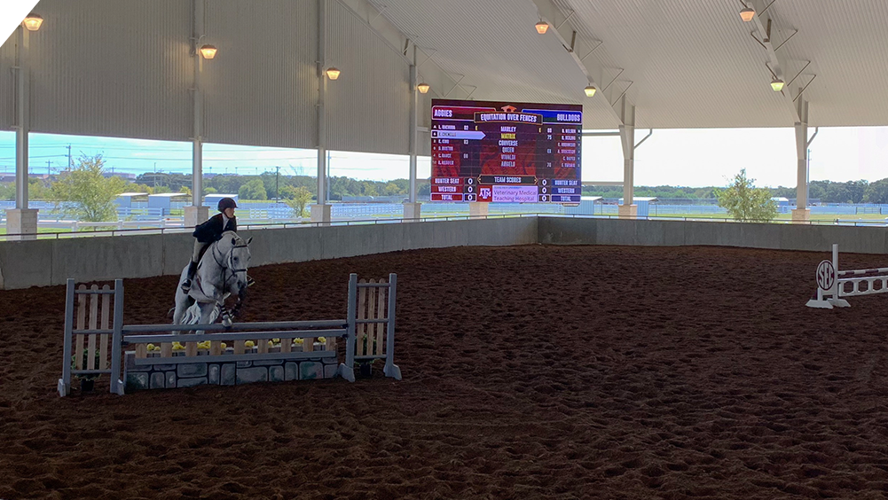 oW2717 LED Equestrian Video Scoreboard at Texas A&M University 2