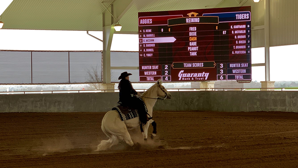oW2717 LED Equestrian Video Scoreboard at Texas A&M University 3 Reining
