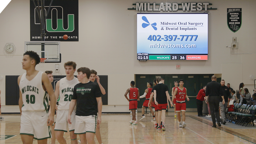 Sponsor Ad at Millard West High School 3
