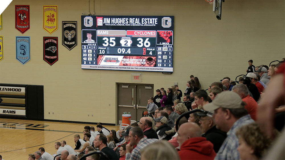 LED Basketball Video Scoreboard at Glenwood High School 2