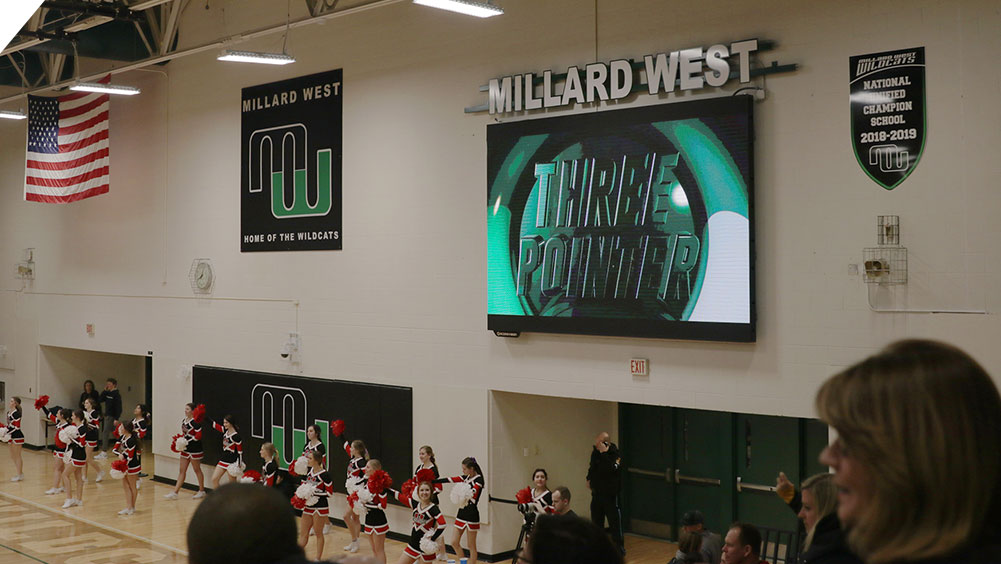 LED Basketball Video Scoreboard at Millard West High School 3