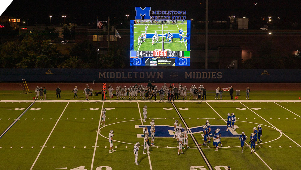 LED Football Video Scoreboard at Middletown High School