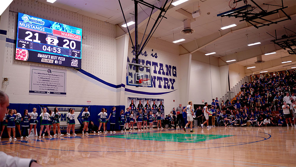 LED Basketball Video Scoreboard at Millard North High School