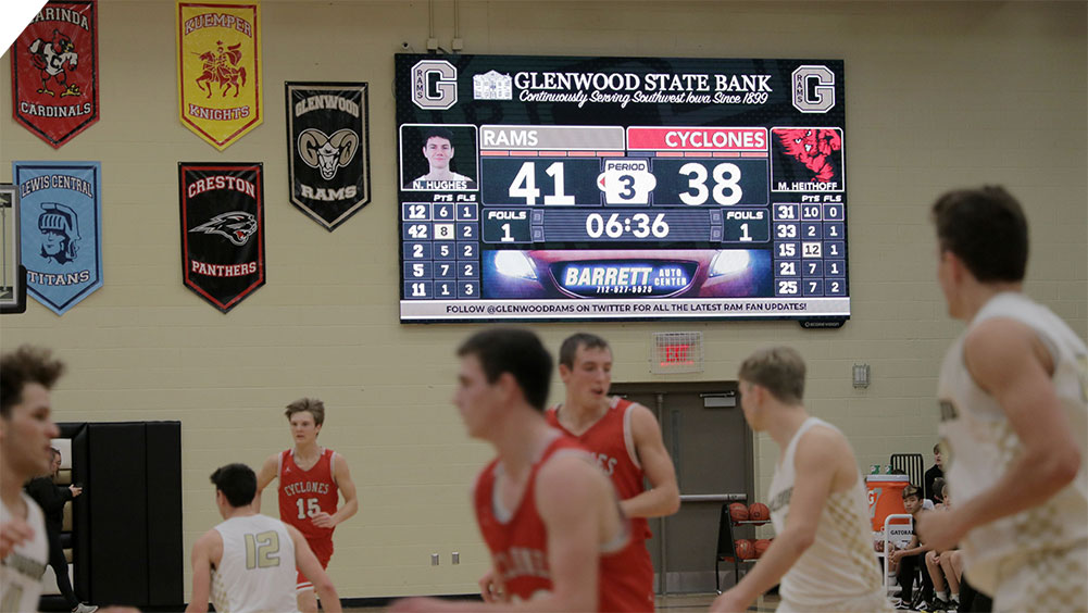 LED Basketball Video Scoreboard at Glenwood High School