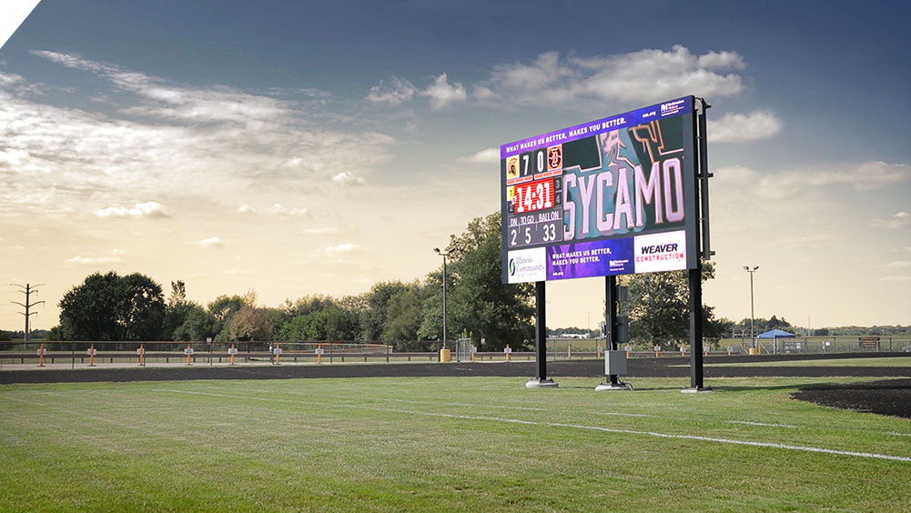 LED Football Video Scoreboard at Sycamore High School