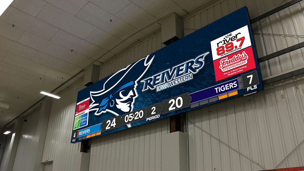 LED Basketball Video Scoreboard at Iowa Western Community College