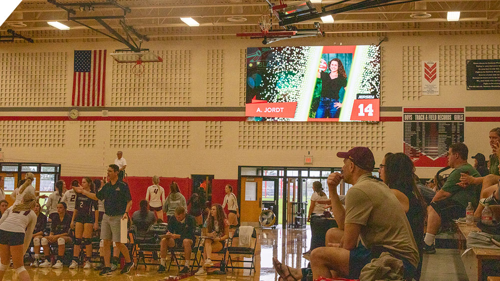 LED Volleyball Video Scoreboard at Baldwin Woodville High School