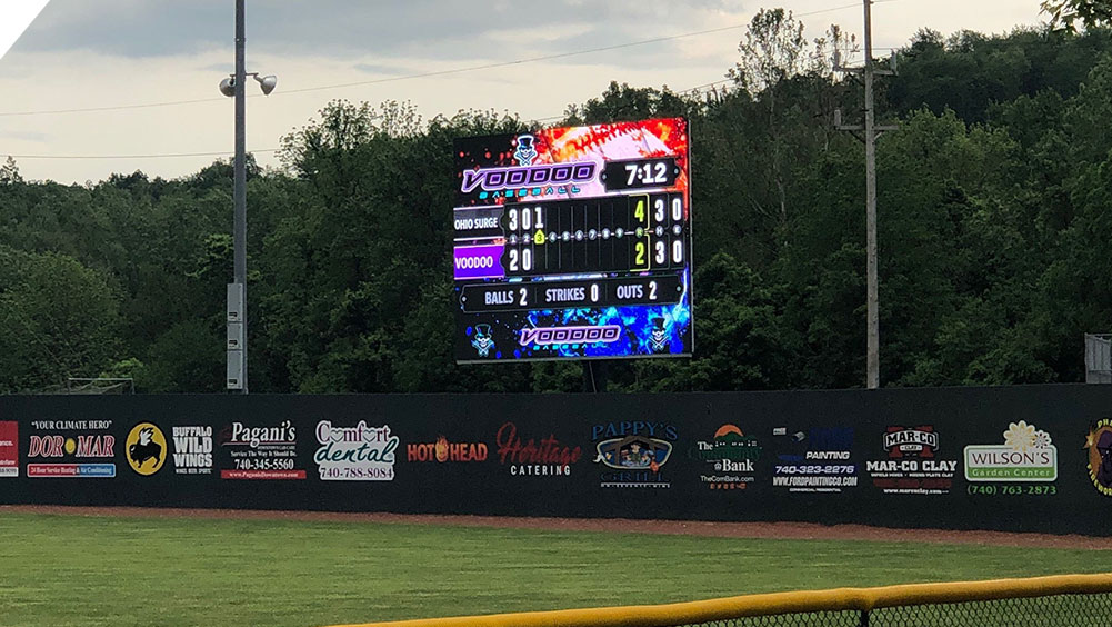 LED Baseball Video Scoreboard at Don Edwards Park