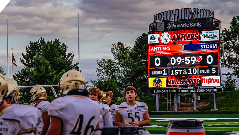 LED Football Video Scoreboard at Elkhorn High School Stadium