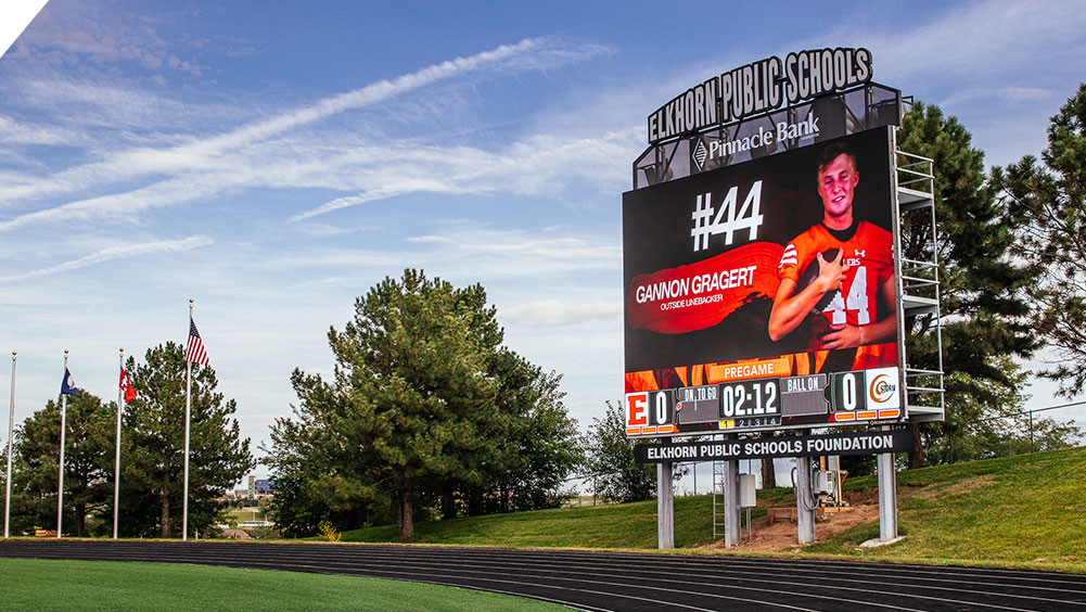 LED Football Video Scoreboard at Elkhorn High School