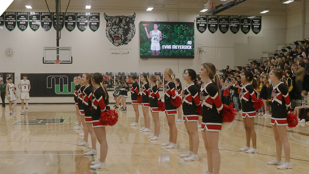 LED Basketball Video Scoreboard at Millard West High School