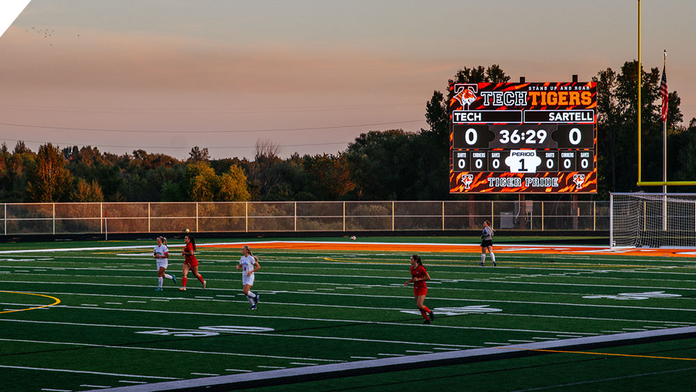 LED Soccer Video Scoreboard at Tech High School