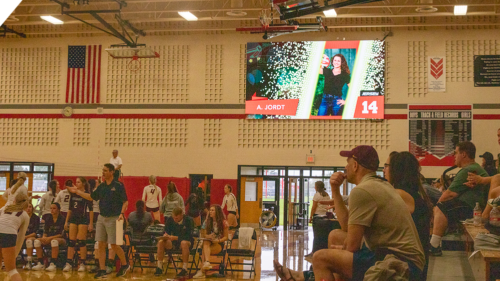 iB1810 Volleyball LED Video Scoreboard with Player Accolade at Baldwin Woodville High School