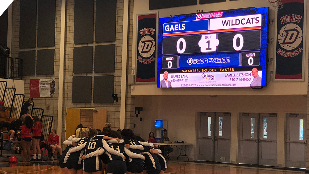 iB1810 Volleyball LED Video Scoreboard at Dublin High School