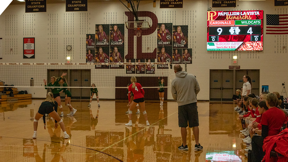 iB1410 Volleyball LED Video Scoreboard at Papillion High School