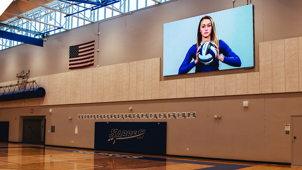 iB1810 Volleyball LED Video Scoreboard with Player Profile at Sartell High School