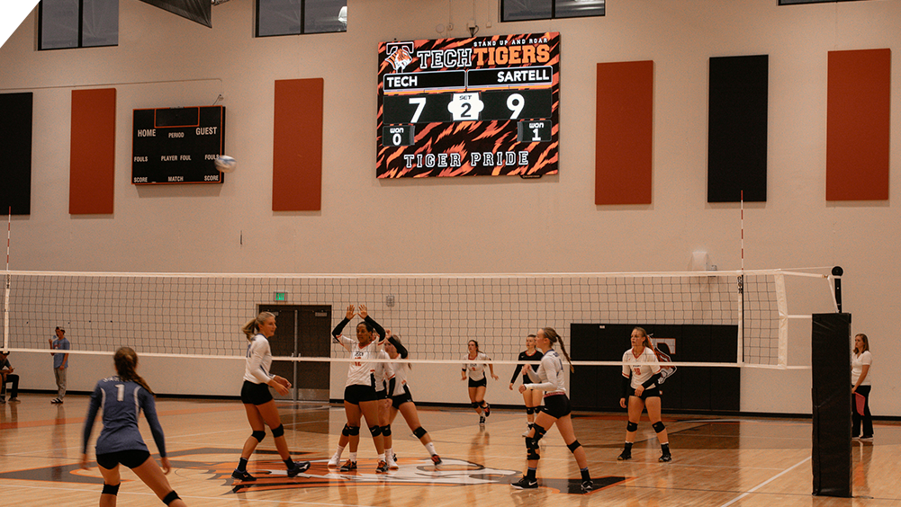 iB1410 Volleyball LED Video Scoreboard at St. Cloud Tech High School